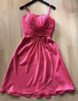 Festliches Kleid Korall Pink Hochzeit Brautjungfer Größe 38