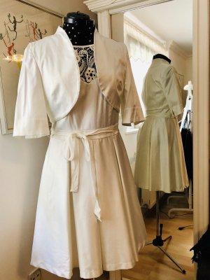 Festliches Kleid mit Bolero - offwhite
