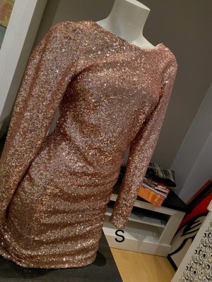 Sequin Dress rose-gold-coloured