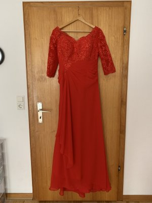Light In The Box Evening Dress red-brick red polyester