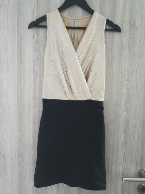 Hailys Mini vestido negro-color oro