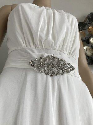 Otto Asymetryczna sukienka biały-srebrny