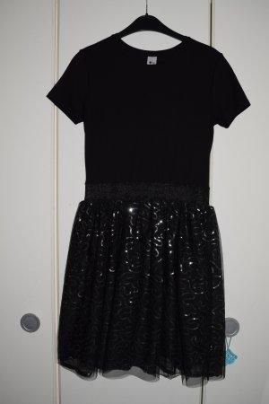 festliches schwarzes Kleid, Minikleid, Gr. S/36