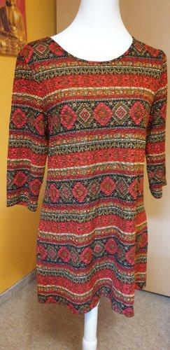 Promod Vestido estilo camisa multicolor Poliéster
