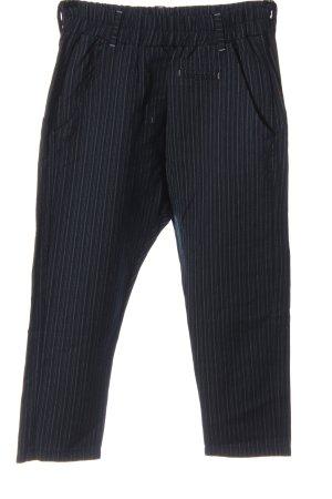 fetish Pantalón de cintura alta azul-blanco estampado a rayas look casual
