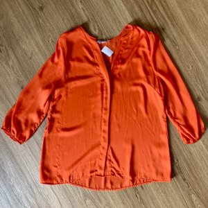 H&M Blouse brillante rouge viscose
