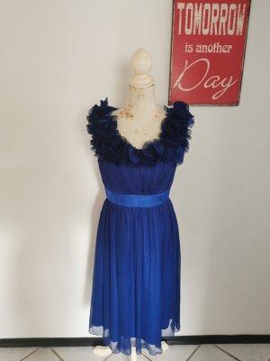 Fever Damen Chiffonkleid Honeysuckle Dress Abendkleid marineblau Größe 40 NEU