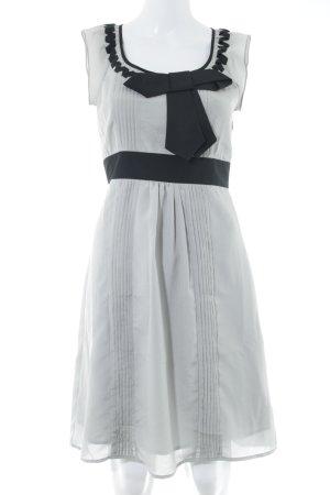 Fever london A-Linien Kleid grau-schwarz Business-Look