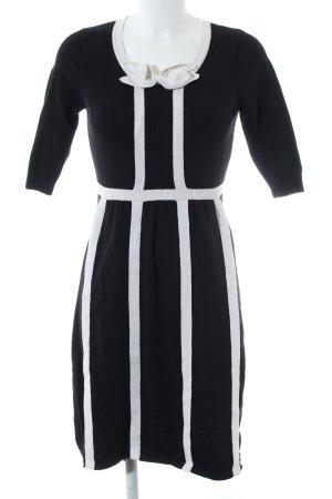 Fever london Jerseykleid schwarz-weiß Streifenmuster Business-Look