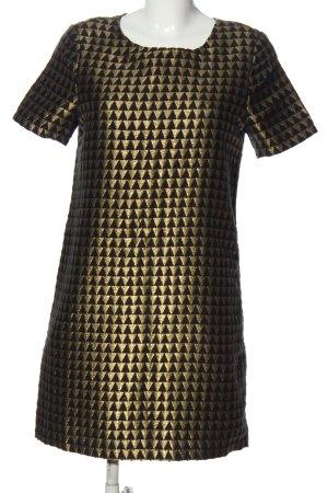 Fever london Sukienka z krótkim rękawem czarny-złoto Graficzny wzór