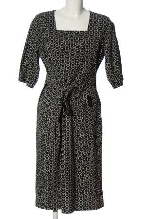 Fever london Sukienka z krótkim rękawem czarny-biały Abstrakcyjny wzór