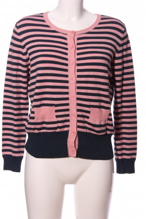Fever london Crewneck Sweater pink-black striped pattern casual look