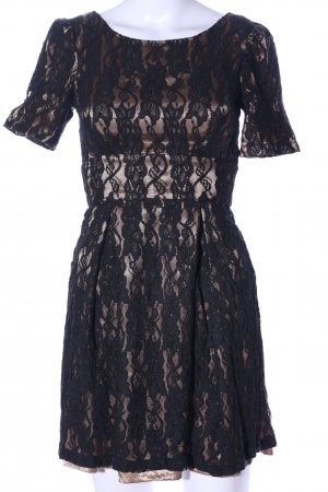Fever london Spitzenkleid schwarz-bronzefarben Elegant