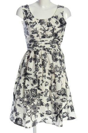 Fever london Sukienka na ramiączkach w kolorze białej wełny-czarny Elegancki