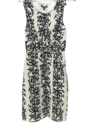 Fever london Sukienka na ramiączkach biały-czarny Wzór w kwiaty