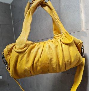 Feynsinn Leder Crossbody Tasche senfgelb