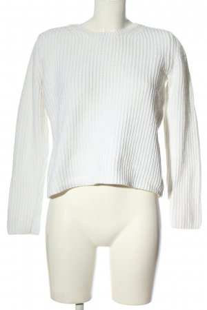 FFC Coarse Knitted Sweater white cable stitch elegant