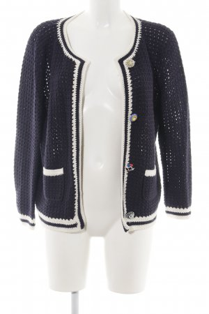 FFC Crochet Cardigan blue-white cable stitch casual look