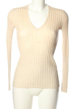 FFC Prążkowana koszulka w kolorze białej wełny W stylu casual
