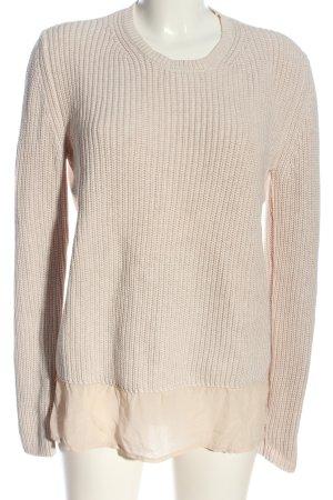 FFC Crewneck Sweater cream cable stitch casual look