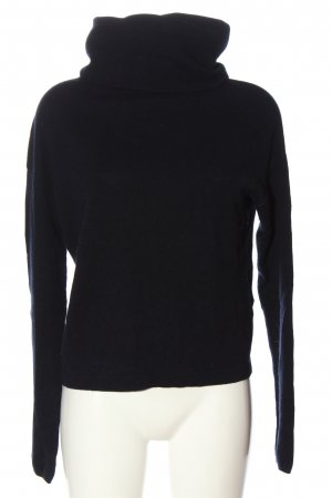 FFC Maglione di lana nero puntinato stile casual