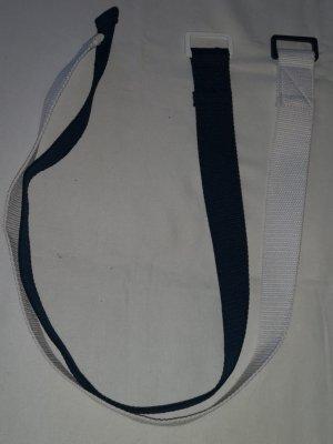 ffgürtel im 2er Pack Schmuck Damen Stoffgürtel, weiß/blau mit Metall-Schnalle