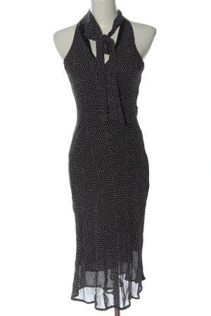 FFY Midikleid schwarz-weiß Punktemuster Elegant