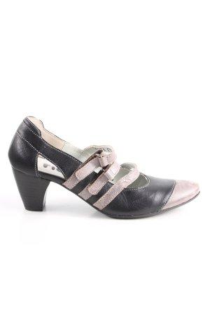 Fidji Riemchen-Sandaletten schwarz-pink Casual-Look