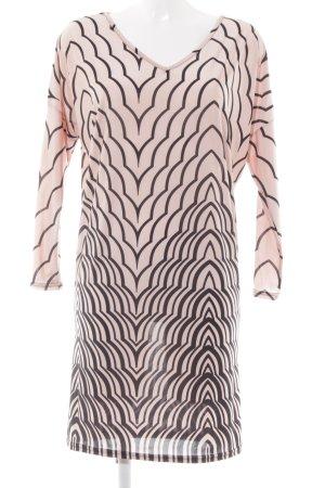Fifilles Paris Langarmkleid rosé-schwarz Streifenmuster Elegant