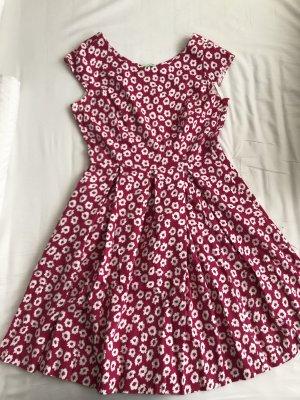 kew 159 Sukienka z halką magenta-malina Bawełna