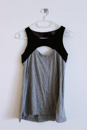 Fiftyfive DSL A Line Top black-silver-colored cotton