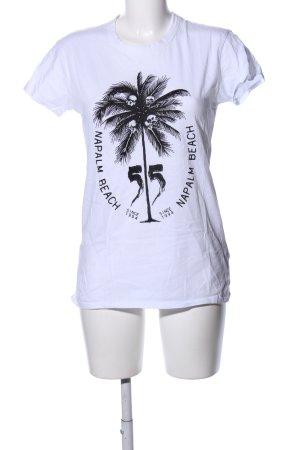 Fiftyfive DSL T-Shirt weiß-schwarz Motivdruck Casual-Look