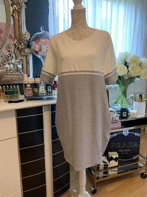 Figl Schachtel-Kleid Ecru-Hellgrau mit Seitentaschen, Größe XL - 42, Neu ohne Etikett