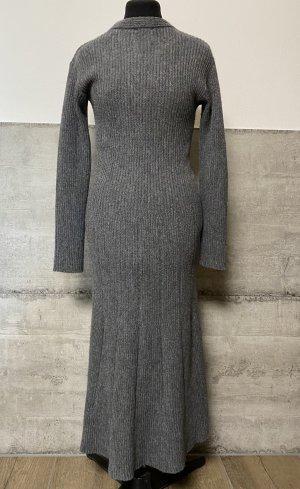 Figurbetonendes Wollkleid grau