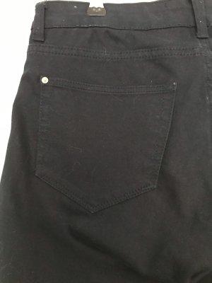 Mango Lage taille broek donkerblauw