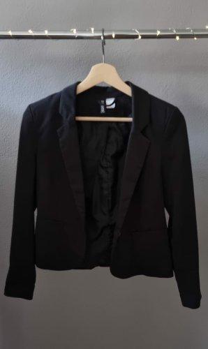 Figurbetonter Blazer schwarz H&M Kragen