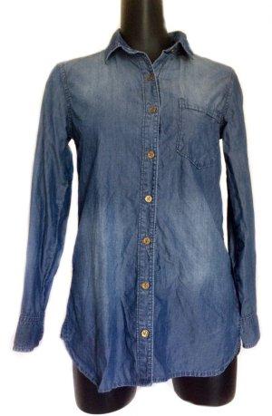 cloth & stone Denim Shirt steel blue lyocell