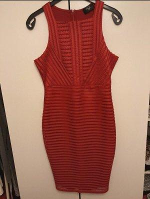 AX Paris Sukienka z dżerseju ciemnoczerwony