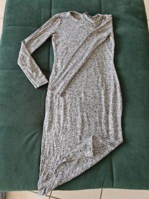 Amisu Robe en laine noir-gris