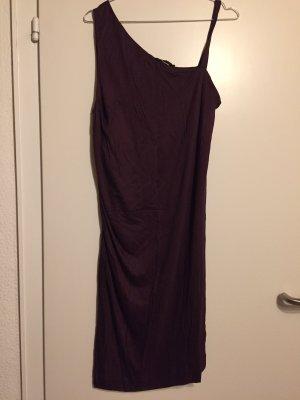 COS One Shoulder Dress brown violet viscose