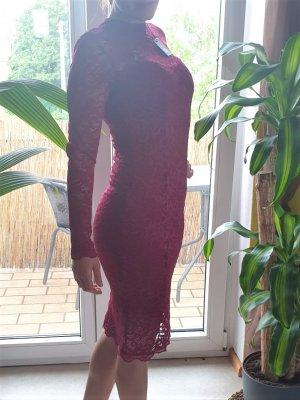 Miusol Robe tube rouge carmin polyester