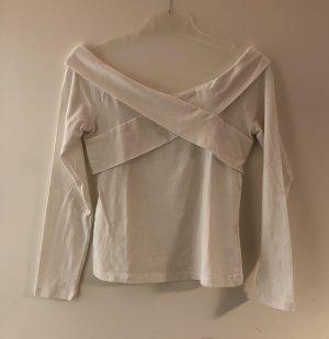 Bik Bok Camisa tipo Carmen blanco Algodón