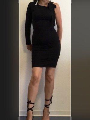 Figurbetontes Minikleid mit langem Ärmel und Schleife