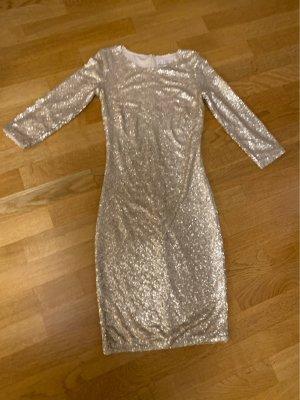 Figurbetontes Paillettenkleid in beige/Gold
