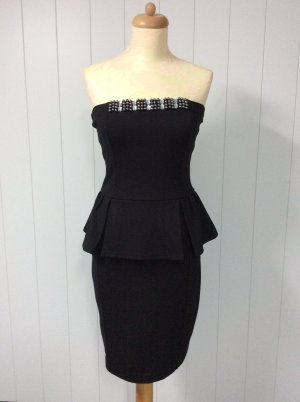 Mango Peplum Dress black mixture fibre