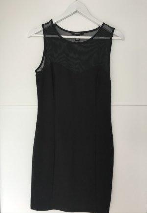 Figurbetontes schwarzes, kurzes Kleid mit transparenten Stoff