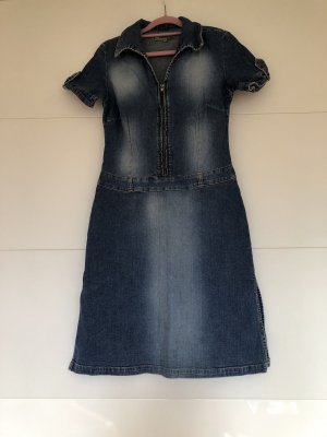Blue One Denim Dress blue cotton