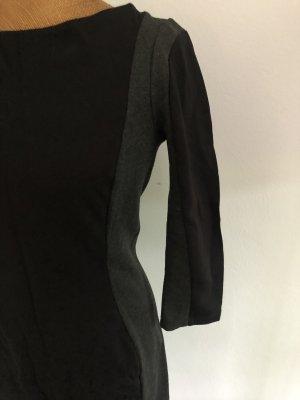H&M Robe tube noir-gris anthracite