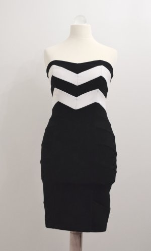 Tally Weijl Vestido elástico negro-blanco