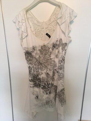 Jennifer Taylor T-shirt blanc-gris